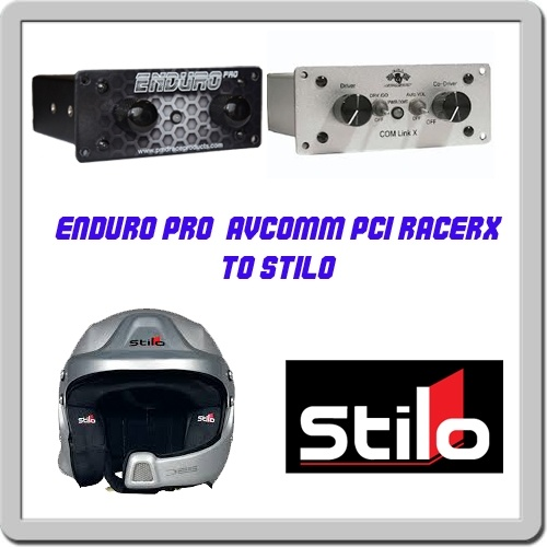 Enduro Pro-Avcom-PCI intercom to Stilo WRC headset adapter