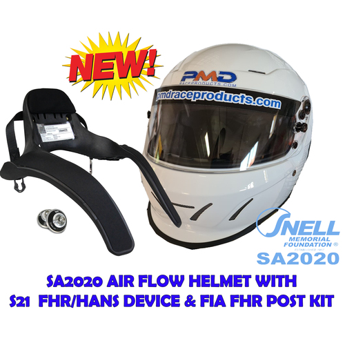 NEW SA2020 PMD full face helmet & FHR/Hans Pack
